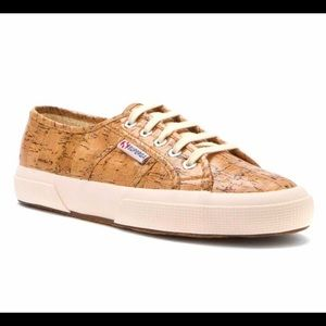 Superga Unisex Shiny Cork Sneakers